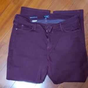 NYDJ Burgundy Jeans